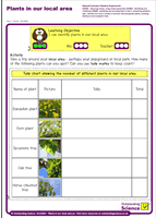 Outstanding Science Year 1 - Plants | Plants in our local area