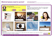Outstanding Science Year 2 - Animals, including humans | What do humans need to survive