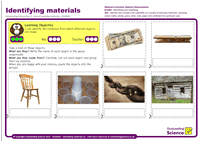 Outstanding Science Year 2 - Uses of everyday materials | Identifying Materials