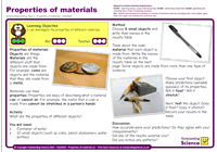 Outstanding Science Year 2 - Uses of everyday materials | Properties of materials