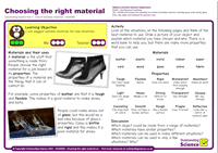 Outstanding Science Year 2 - Uses of everyday materials | Choosing the right material