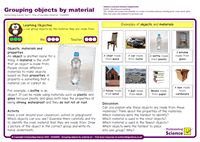 Outstanding Science Year 2 - Uses of everyday materials | Grouping objects by material