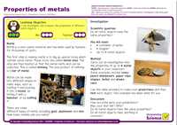 Outstanding Science Year 2 - Uses of everyday materials | Properties of metals