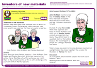 Outstanding Science Year 2 - Uses of everyday materials | Inventors of new materials