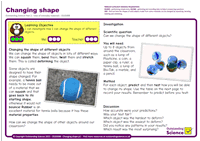 Outstanding Science Year 2 - Uses of everyday materials | Changing shape
