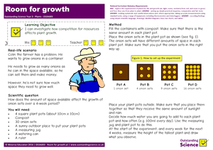 Outstanding Science Year 3 - Plants | Room for growth