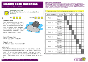 Outstanding Science Year 3 - Rocks | Testing rock hardness