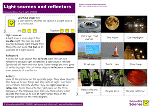 Outstanding Science Year 3 - Light | Light sources and reflectors