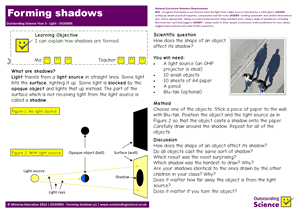Outstanding Science Year 3 - Light | Forming shadows