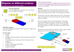Outstanding Science Year 3 - Forces and magnets | Magnets on different surfaces