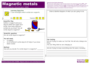 Outstanding Science Year 3 - Forces and magnets | Magnetic metals