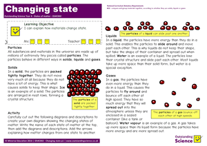 Outstanding Science Year 4 - States of matter | Changing state