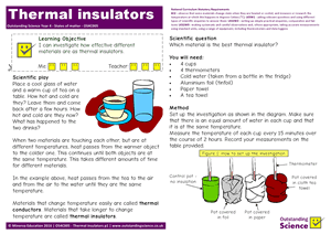 Outstanding Science Year 4 - States of matter | Thermal insulators