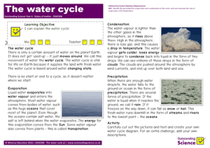 Outstanding Science Year 4 - States of matter | The water cycle