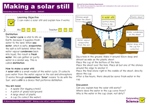 Outstanding Science Year 4 - States of matter | Making a solar still