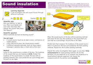 Outstanding Science Year 4 - Sound | Sound insulation