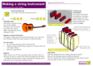 Outstanding Science Year 4 - Sound | Making a string instrument
