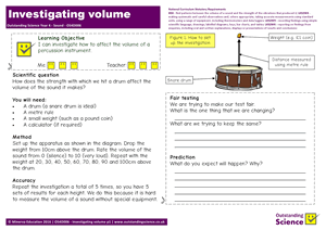 Outstanding Science Year 4 - Sound | Investigating volume
