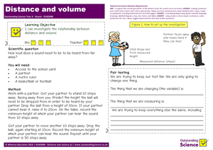 Outstanding Science Year 4 - Sound | Distance and volume