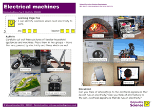 Outstanding Science Year 4 - Electricity | Electrical machines