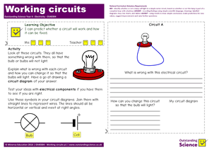 Outstanding Science Year 4 - Electricity | Working circuits