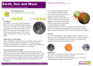 Outstanding Science Year 5 - Earth and space | Earth, Sun and Moon