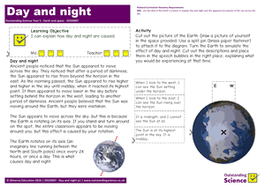 Outstanding Science Year 5 - Earth and space | Day and night