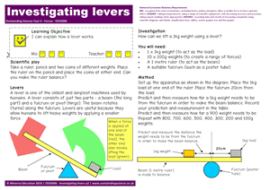 Outstanding Science Year 5 - Forces | Investigating levers