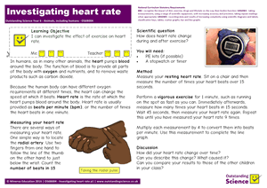 Outstanding Science Year 6 - Animals, including humans | Investigating heart rate