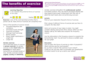 Outstanding Science Year 6 - Animals, including humans | The benefits of exercise