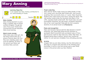 Outstanding Science Year 6 - Evolution and inheritance | Mary Anning
