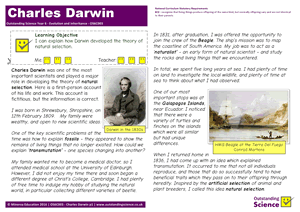 Outstanding Science Year 6 - Evolution and inheritance | Charles Darwin