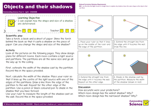 Outstanding Science Year 6 - Light | Objects and their shadows