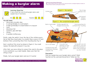 Outstanding Science Year 6 - Electricity | Making a burglar alarm