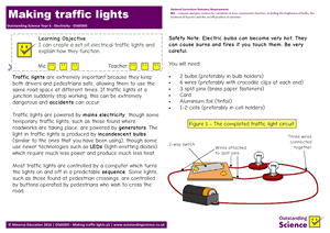 Outstanding Science Year 6 - Electricity | Making traffic lights