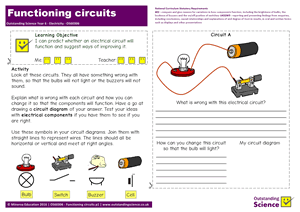 Outstanding Science Year 6 - Electricity | Functioning circuits