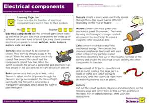 Outstanding Science Year 6 - Electricity | Electrical components